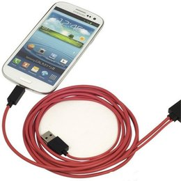 Wholesale Galaxy S3 Hdmi - 2M 6ft 11pin Universal Mirco USB MHL to HDMI Cord Cable Line Adapter HD 1080P for Samsung Galaxy S3 S4 S5 Note2 Note3