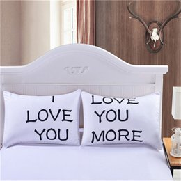 Wholesale Romantic Anniversary Gifts - BeddingOutlet MR and MRS Pillow Case Couple Pillow Shams for Him or Her Christmas Romantic Anniversary Wedding Valentine's Gift 0711028