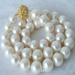 Wholesale 14mm Pearls - FFREE SHIPPING**Beautiful!14MM White Shell Pearl Necklace AAA+