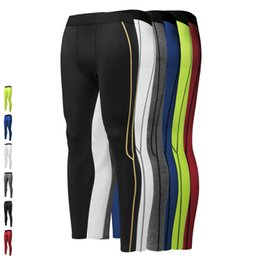 Wholesale Clothing Stops - New Brand Design Men's Compression pants Jogging Running leggings Underwear bodybuliding Clothing Yoga Gym legging Fitness Running pant 6017