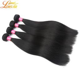 Sınıf 6A kaliteli Malezya Bakire İnsan saç Ürünleri% 100% İşlenmemiş Virgin Malezya Düz Saç Doğal Renk # 1B Ücretsiz Kargo nereden