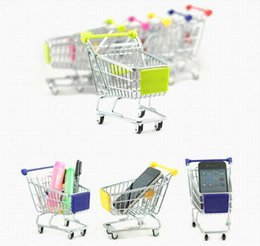 Wholesale Housing Shop - Stainless Steel Mini Shopping Cart With Active Wheels Creative Popular Baby Toys Kids House Toys Christmas Gift Free Shipping
