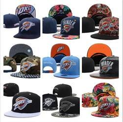 Wholesale Oklahoma City - New Fashion 2017 Oklahoma City Adjustable Thunder Snapback Hat Thousands Snap Back Hats Basketball Paul George Cap men women Baseball Caps