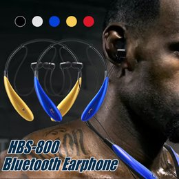 Wholesale Lg Hbs White - HBS 800 Headphone Wireless Bluetooth Earphone HBS800 Tone Ultra Bluetooth 4.0 sport Handsfree in-ear earphone No logo With Retail Box
