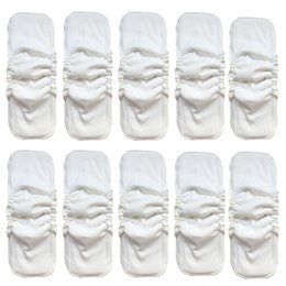 Wholesale Diaper Liners For Babies - 20pcs Naturally Soft 5 Layers Bamboo Charcoal Inserts For Baby Cloth Diapers Super Absorbent Reusable Washable Inserts Liners Pockets