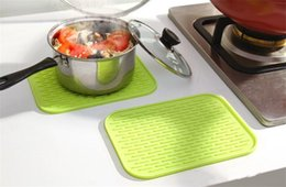 Wholesale Dishes Modern - Silicone Dish Drying Mat Extra-Large Silicone Dish-Drying Mat & High-Heat Resistant Trivet With BONUS Silicone Scrubby Antimicrobial, Antib
