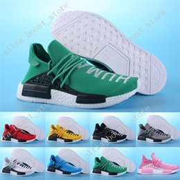 Wholesale Clear Plastic Men Shoe Box - Top Factory Red Human Race With HU Race Real Boost NMD Pharrell Williams X Running Shoes NMD Men Women Basketball Shoes Size 36-45 with box