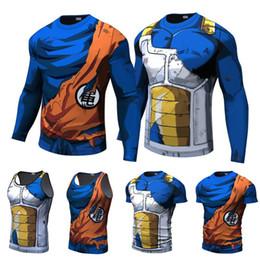 Canada T-shirts pour hommes Dragon Ball Z 3D Imprimer Anime D'été T-shirts À Manches Longues Vegeta Goku Blouse Drôle Cosplay T-shirts Streetwear Offre