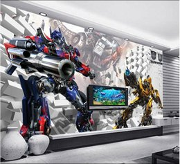 Wholesale Wallpaper Tv Setting - 3d wallpaper custom mural non-woven 3d room wallpaper 3 d transformers kumite TV setting wall photo wallpaper for walls 3d