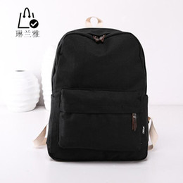 Wholesale Canvas Big Backpack For School - Wholesale- LINLANYA Fashion Backpacks for Men and Women Solid Preppy Style Soft Back Pack Unisex School Bags Big Capicity Canvas Bag Z-109