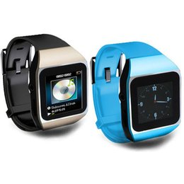 Wholesale Mp3 Touch Watch - Wholesale- 2015 New fashion touch screen smart watch mp3 player 8GB bluetooth running sports type FM radio Free shipping