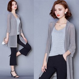 Wholesale Plus Size Orange Cardigan - Summer Kimono Cardigan Women Loose Long Blouses Shirt Large Size Chiffon Beach Shirts Sunscreen Clothing Blusas Plus Size