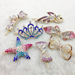 Wholesale Hair Clips Clamp - Mix Style Fashion Metal Hair Clips Barrette Crown Hairpin Accessories For Women Girls Hair Clip Pin Clamp Hairclip Hairgrip Ornaments