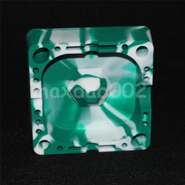 Wholesale Food Holds - Extra Thick Silicone Ashtray Smokeless Round Ash tray Smoke Swirl (Food Grade Silicone) silicone oil rig glass bong Safe Glass Holds