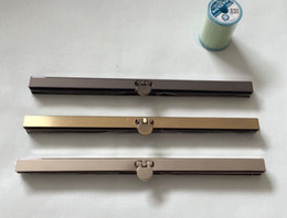 Wholesale metal wallet frame - 30pcs lot 19cm Antique Bronze Gun Black Silver tone Metal Purse Frame for wallet Making DIY bags accessory