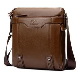 Wholesale Office Shoulder Bag - Fashion Vertical style Leather Men's Messenger Bags Man Office Bag Quality Travel Shoulder Zipper Style waterproof handbags