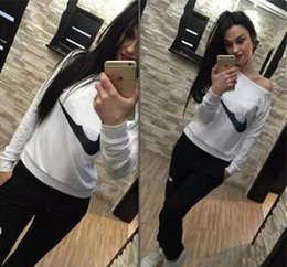 Wholesale Two Piece Hoodie - hot sale Spring New Hoodies Suit Women's Fashion Tracksuits Sweatshirts Set Casual cotton pullover Sportswear outdoor plus size