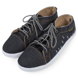 Wholesale Boys Water Shoes - Men Casual Shoes Boys Fashion Brand Breathable Denim Canvas Shoes Men Flats Water Washed Lace-Up Men Shoes Zapatos Hombres