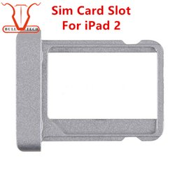 Wholesale Ipad Sim Card - Original New SIM Card Slot Tray For iPad 2 Universal SIM Card Holder SIM Card Slot Holder Replacement Part DHL Free Shipping