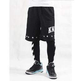 Wholesale Pants Mens Hip Hop - off white stripe printed hip-hop lovers mens hiphop legging ktz fashion brand man leggings free shipping