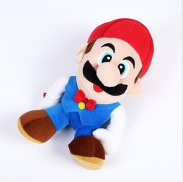 Wholesale Mario Brothers Stuffed Toys - 20cm Super Mario Plush toys with suction Soft Plush Dolls Luigi mario brothers plush toys SUPER MARIO Stuffed toy gift
