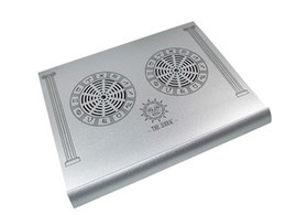 Wholesale Aluminum Notebook Cooling Pad - Manufacturers direct supply of four pure aluminum heat dissipation pad of the twelve palace notebook wholesale wholesale of 15 inches