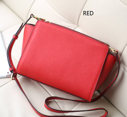 Wholesale Nylon Crochet Thread Red - 2017 new fashion leather clothing designer famous brand women's handbags Messenger bags KorliEdlys Purse Tote Bag Purse free shopping