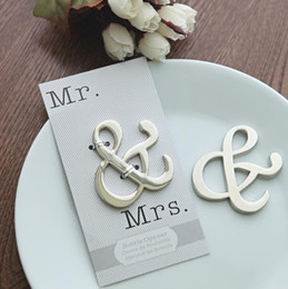 Wholesale Mr Color - New Mr & Mrs bottle opener creative wedding supplies package by color card for beach wedding gift