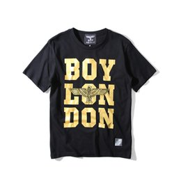 Wholesale Women T Shirt Boy London - 1215 Eagles Hip Hop Casual Boy London shirt 1235 white black Women Mens clothing Pullover anime paillette British t shirt mens Size S-XXXL