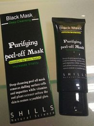 Wholesale black mask collagen - Dropshipping Black Suction Mask Anti-Aging 50ml SHILLS Deep Cleansing purifying peel off Black face mask Remove blackhead Peel Masks