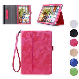 Handschlaufe tablette abdeckung online-Hochwertige Leder Flip Fall für Lenovo Tab 2 A10-30F A10-70 A10-30 X30 x30f 70F Abdeckung Tablet Schutzhülle mit Handschlaufe Shell
