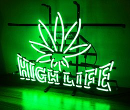 Wholesale Life Signs - New Tat tire Neon Beer Sign Bar Sign Real Glass Neon Light Beer Sign ME 407- High Life 18x12.6 001