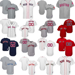 Wholesale Navy White Stripe - Customized Boston red sox 2017 Mens Womens Youth Fashion stars&stripes USMC Father Mother White Red Gray Navy Cool Flex Baseball jerseys