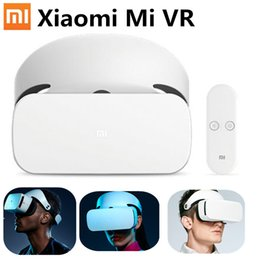 Wholesale Adjustable Focus Glasses - Wholesale- Original XIAOMI MI VR Headset Virtual Reality Glasses with 9Remote Controller Focus Adjustable for XIAOMI MI5 MI5S 5s Plus