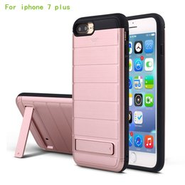 Wholesale Mobile Phone Covers 5g - New multifunctional new credit card slot sliding cover For iphone 7 plus 6 plus 5G SE mobile phone bracket protective shell OPP packaging