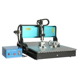 Wholesale Cnc Engraving Machinery - JFT New Type Engraving Wood Machine 3 Axis 1500W CNC Router with Parallel Port High Power Spindle Motor Stone Machinery 6090