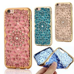 Wholesale Diamond Flower Phone Cases - For iphone 8 X case Sun Flower electroplate Plating Soft TPU Case Diamond Crystal Phone Cases For iPhone 7 plus Samsung s8 plus