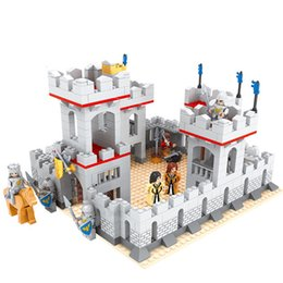 Wholesale Castle Toy For Girls - odels Building Toy Blocks Super Large Knight Castle Princess Building Blocks Castle Educational Toys For Children Friends Girls Birthday ...