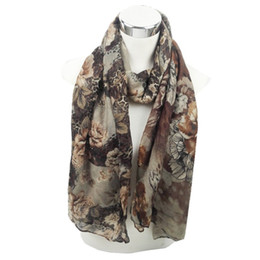 Wholesale Girl Muslim Scarf Hijab - Wholesale- Fashion Women Floral Viscose Shawl Scarf 2016 Latest Design 6 Colors Female Headband Long Head Hijab Muslim Sjaal Girls Snood