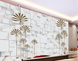 Wholesale fantastic paintings - Fantastic woods TV wall decoration painting 3d murals wallpaper for living room