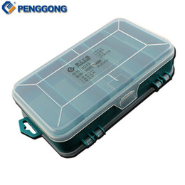 Wholesale Double Plastic Storage Box - Wholesale-160*92*44mm Transparent Double-Faced Plastic PP Tool Box Portable Fittings Box Household Storage Caja De Herramientas