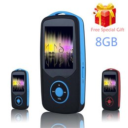 Wholesale Mp3 Game - Wholesale- RUIZU X06 Bluetooth Sport MP3 Player 8GB with 1.8Inch Screen can play 100hours high quality lossless Recorder FM +Free Lanyard