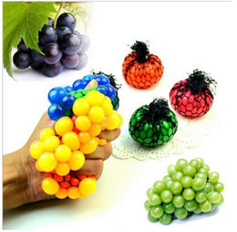 Wholesale Geek Gadgets - Anti Stress Face Reliever Grape Ball Autism Mood Squeeze Relief Healthy Funny Tricky Toy Geek Gadget Decompression Toys Halloween Jokes