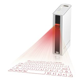 Wholesale Bluetooth Notebook Speakers - Bluetooth Virtual Laser Projection Wireless Keyboard 5200mAh Power Bank Speaker 4 in 1 for Ipad Iphone Tablet PC Notebook