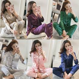 Wholesale Ladies Long Sleeve Pajamas Sleepwear - Seven Colors Sexy Kimono Women Nightgown Lady Silk Night Wear Pajamas Sleepwear Free Shipping Sleeping Dress