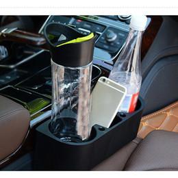 bolsas de almacenamiento de vehículos Rebajas 1x Vehículo para automóvil Accesorios para el automóvil Asiento Caja de almacenamiento de costura Bolsa Titular de teléfono Organizador Negro DIY CASE