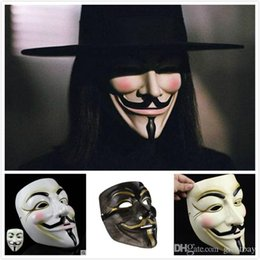 Wholesale Vendetta Masks For Sale - Wholesale Masquerade V Masks for Halloween Ball Mask Full Face Movie Props Mardi Gras Scary Horror Party Costume for Vendetta Mask for Sale