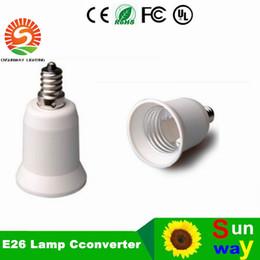 Wholesale E12 Adapters - E12 to E26 lamp holder adapter converter lamp adapter E26~E12,E12 male to E26 female wholesale