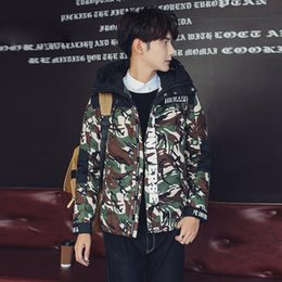 Wholesale American Bomber Jackets - New 2017 Autumn Navy Flying Jacket,MA1 Hooded camouflage American College Bomber Flight Jacket for Men