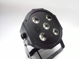 Wholesale Rgbwa Led Par - 2017 New 5*18W RGBWA-UV 6in1 LED Par Cans 6 10CH Disco DJ Lighting DMX-512